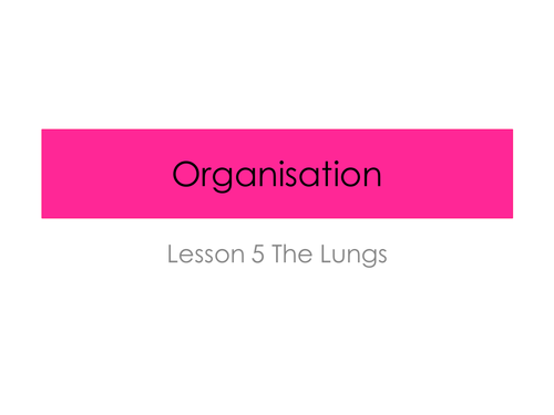 The Lungs - Organisation (New GCSE AQA Spec)