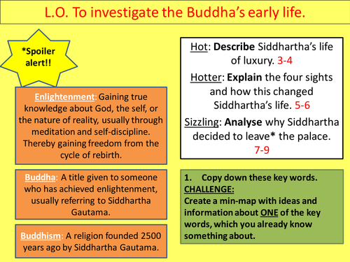 Investigate the Buddha's early life
