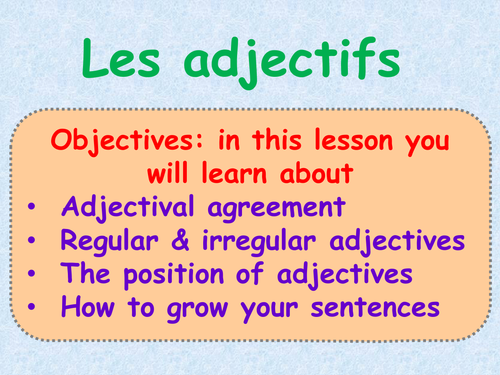 Adjectives: PPT Tutorial and Practice + Worksheets by jeromsauvin ...