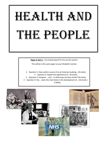 AQA 8145 Medicine - Health and the People Revision Guide
