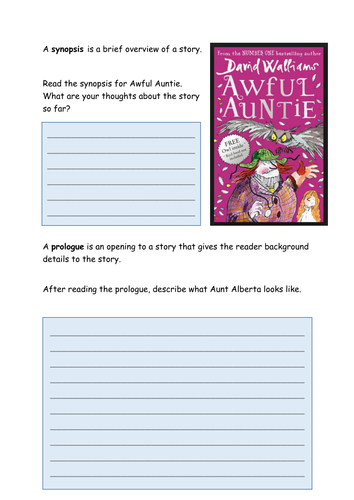 Awful Auntie Activities