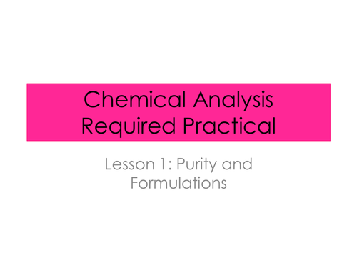 Analysing paper chromatography (required practical)- Chemical Analysis (New AQA spec)