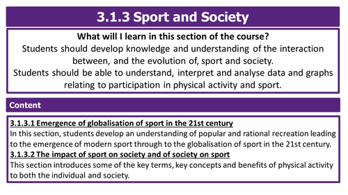 AQA A Level PE 2016 / 2017 - Sport and society - Pre & Post Industrial Britain