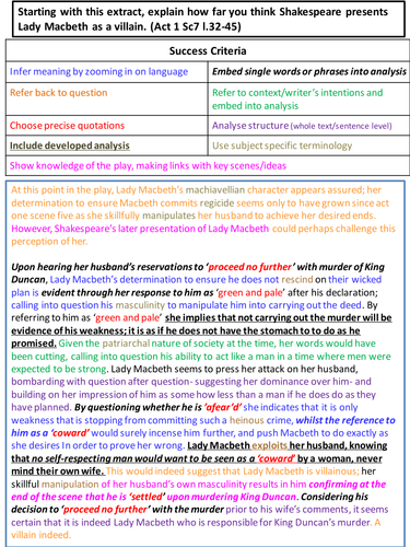 mrsrg s shop teaching resources tes model exemplar lady macbeth essay