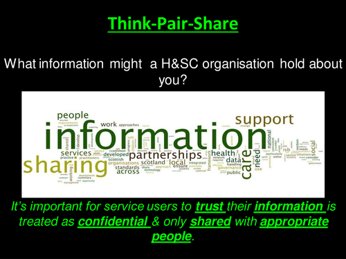 Specific Responsibilities - Information Management & Accountability (Health & Social Care Unit 2)