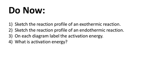 Energy Changes Lesson (New Spec AQA GCSE - Chemistry/Trilogy/Synergy)