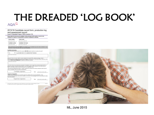 AQA 7993 EPQ Taught Skills for Students - How to deal with the 'dreaded' Log Book!
