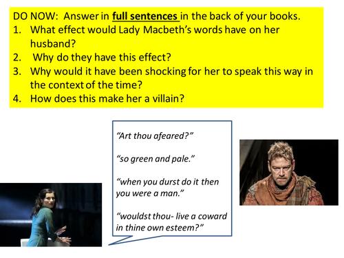 Lady Macbeth's language analysis act 1 scene 7