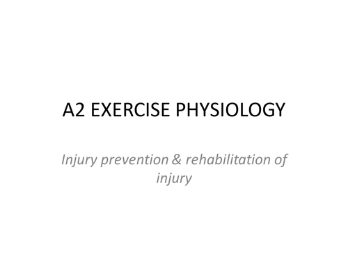 OCR A LEVEL EXERCISE PHYSIOLOGY - INJURIES (NEW SPEC 2016 +) Entire Powerpoint