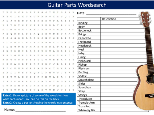 Guitar Parts Crossword : primary music resources ~ Vivirlamusica.com Haus und Dekorationen