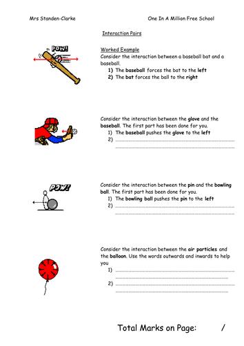 Interaction Pairs Worksheet