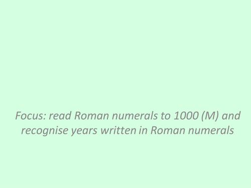 Mastery Roman Numerals ppt