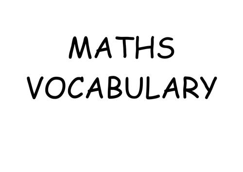 Place Value vocab cards
