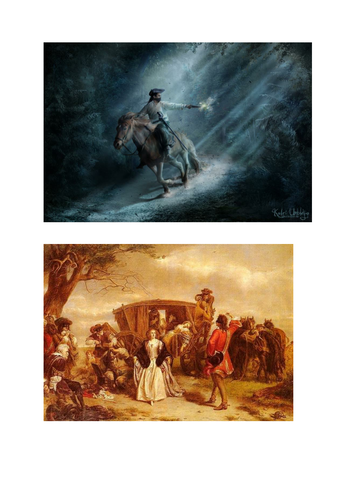 The Highwayman Images to support learning