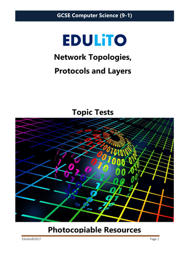 Network Topologies, Protocols and Layers Test - GCSE Computer Science