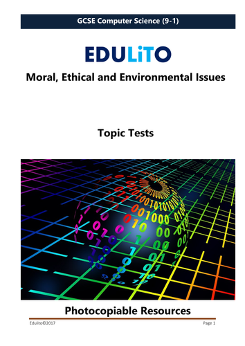 Moral, Ethical and Environmental Concerns Test - GCSE Computer Science