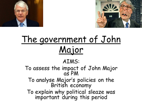 AQA A level modern Britain, John Major's government