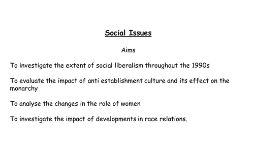 AQA A level modern Britain, John Major, social issues