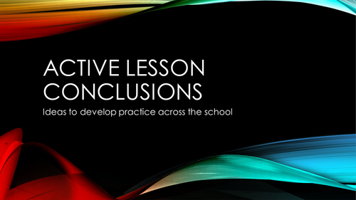 Active Lesson Conclusions