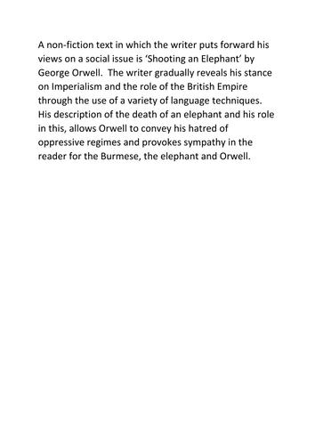 Shooting An Elephant - George Orwell