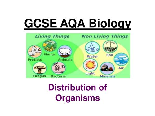GCSE AQA Biology Distribution of organisms ppt