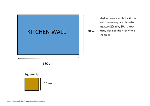 AREA and PERIMETER Shape in shape (tiles questions) for Functional Skills Mathematics Level 1 and 2