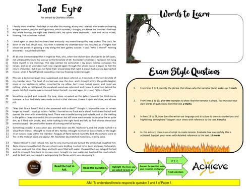 GCSE Edexcel: Jane Eyre Extract Questions 1-4