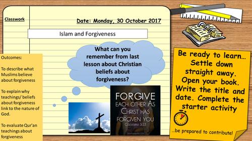 AQA Religious Studies GCSE 9-1: Islamic Attitudes to forgiveness