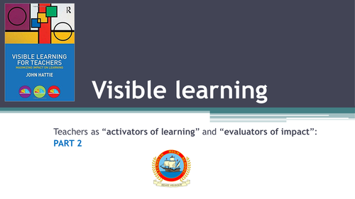 Visible Learning Part 2: Teachers as Evaluators of Impact