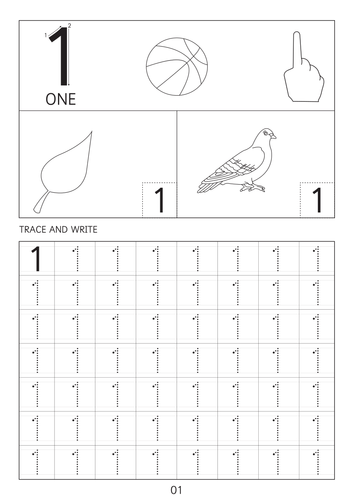 Number 1 to 10 dot to dot worksheets
