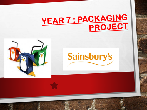 Year 7 Design Packaging Project
