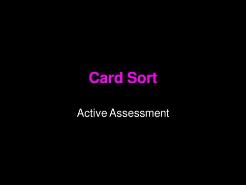 Card Sort template