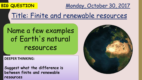 AQA new specification-Finite and Renewable resources-C12.1