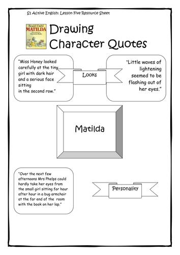Matilda Roald Dahl Worksheets By Katcustard Teaching Resources Tes