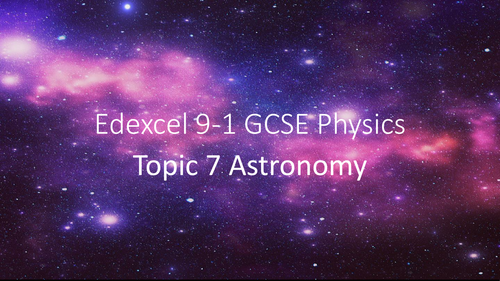 Edexcel Physics SP7a The Solar sytem