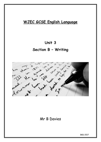 WJEC *New* English Language Unit 3 Section B Writing Types - Booklet