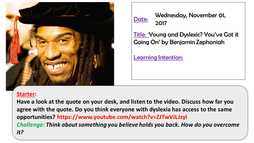 Young and Dyslexic? You've got it Going on. Edexcel iGCSE English Language Anthology A (9-1)