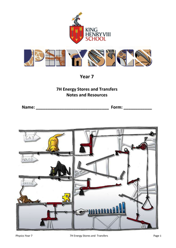 KS3 Physics: Energy Stores and Transfers Student's Notes and Resources
