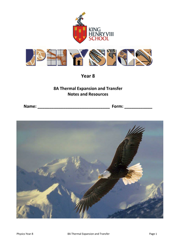 KS3 Physics: Thermal Expansion and Transfer Student's Notes and Resources