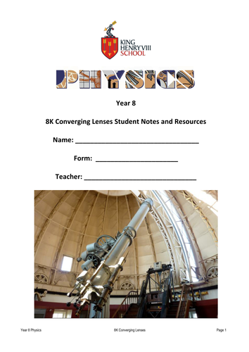 KS3 Physics: Lenses Student's Notes and Resources
