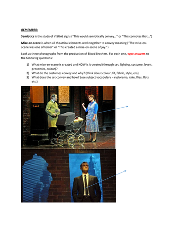 KS4: Drama: Writing a Live theatre Review of Blood Brothers