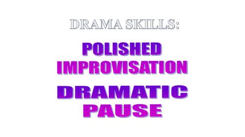 KS3: Drama: One-off lesson on Dramatic Pause