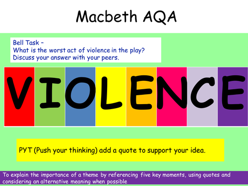 AQA Macbeth Revision Violence Theme
