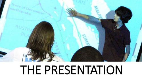 AQA 7993 EPQ Taught Skills for Students - The Presentation