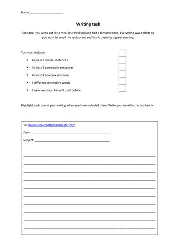 Level one functional skills English sentence construction