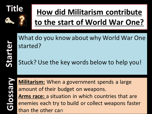 was militarism the main reason for causing ww1 essay - 500×375