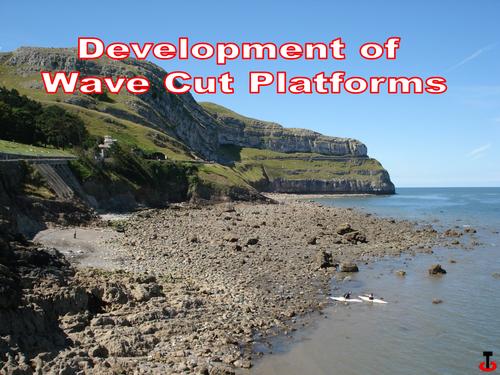 Wave cut platforms