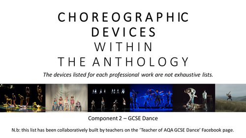 GCSE Dance - Choreographic Devices in the Professional Works