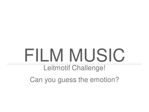 OCR GCSE Film Music Compositional Activity Leitmotifs