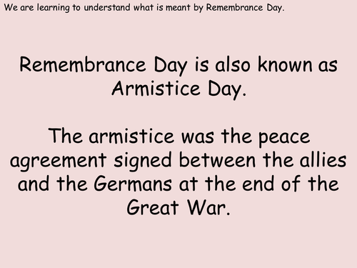 Understanding Remembrance Day and the poppy - 2 lessons